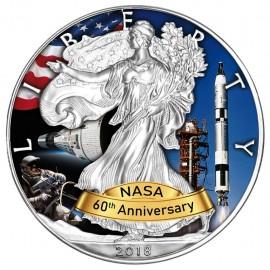 1 Unze Silber American Eagle 2018  Projekt Gemini 60 Jahre Nasa
