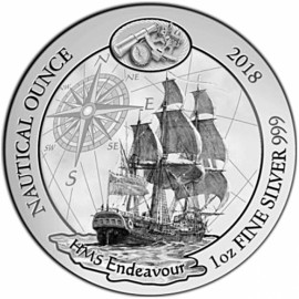 1 Unze Silber Nautical Endeavour Ruanda 2018