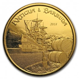 1 Unze oz Gold 2018 Antigua & Barbuda Rum Runner BU