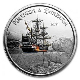 1 Unze Silber 2018 Antigua & Barbuda Rum Runner farbig