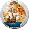 1 Unze Silber Nautical Santa Maria Ruanda 2017 Farbig