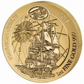 1 Unze oz Gold Nautical HMS Endeavour Ruanda 2018