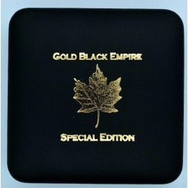 1 Unze Silber Maple Leaf  Gold Black Empire 2018