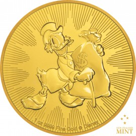 1 oz Unze Gold  Scrooge McDuck Dagobert Duck Disney 2018