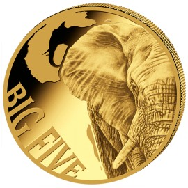 5 oz Gold Big Five Elefant  2018 PP 10000  Francs CFA
