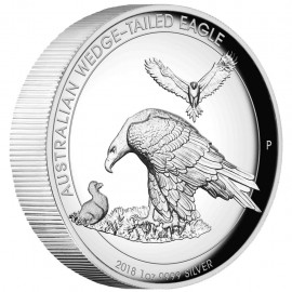 1 Unze Silber Wedge-Tailed Eagle PP 2018 High Relief