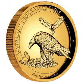 1 Unze Gold Wedge-Tailed Eagle High Relief PP mit Box 2018
