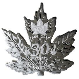 1 Unze Silber 30 Years  30  jahre Maple Leaf Shaped Kanada 1 oz Silber PP 2018
