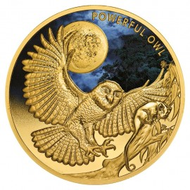 1 oz Unze Gold  Eule Owl 2018 Serie Endangered& Extinct