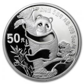 5 oz Silber China Panda 1987 PP