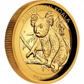 2 oz Koala Gold 2018 High Relief