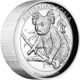 5 Unzen  Silber Australien Koala 2018 High Relief