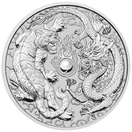 1 Unze Silber Dragon + Tiger Perth Mint 2018