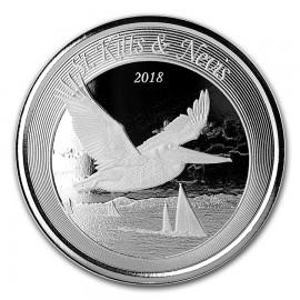 1 Unze Silber 2018 St Kitts Pelican BU
