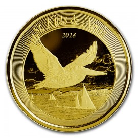 1 Unze oz Gold 2018 St Kitts Pelican BU