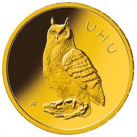 1/8 oz Gold 20 Euro Uhu Heimische Vögel 2018 Deutschland