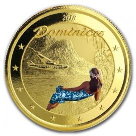 2018 Antigua & Barbuda 1 oz Gold Rum  coloured