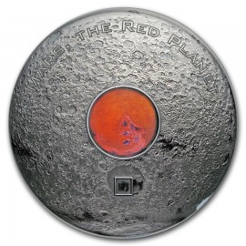 3 Unzen Silber 2017 Cook Islands  Meteorites Mars The Red Planet