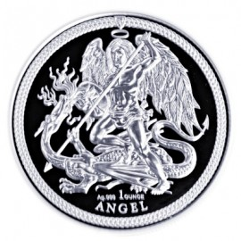 1 Unze oz Silber Isle of Man  Angel 2018 PU