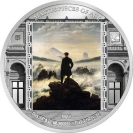 3 unzen  Silber Masterpieces of Art *Caspar David Friedrich* 20$ Cook Islands 2016