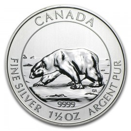 1,5 Unze Silber Polarbär 2013