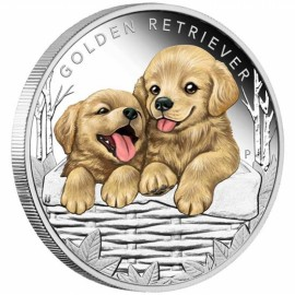 1/2 oz Baby dog Silver Perth Mint