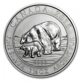 1,5 Unze Silber Polarbär 2015