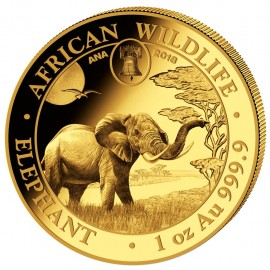 1 oz Gold Somalia Elefant 2017 ANA