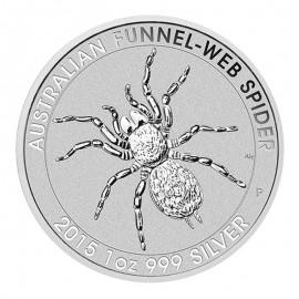 1 Unze Silber Trichternetzspinne 2015