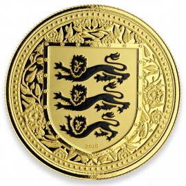 1 Unze oz Gold 2018 three Lions Royal Arms of Britain Gibraltar Black  99 Stück