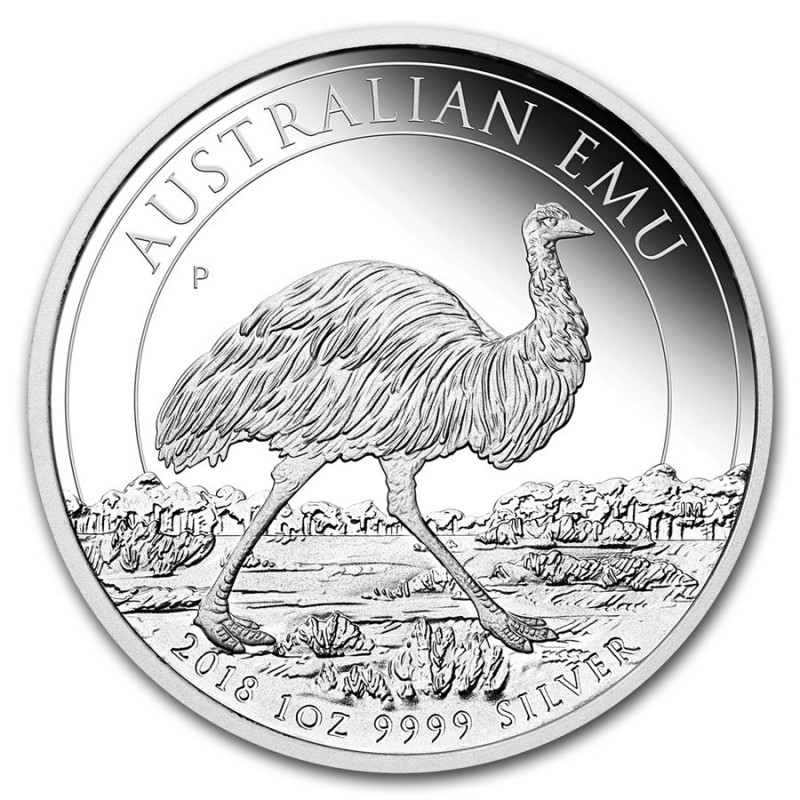 1 Unze Silber Emu Perth Mint 2018 PP