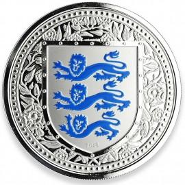 1 Unze oz Gold 2018 three Lions Royal Arms of Britain Gibraltar Blue  500 Stück