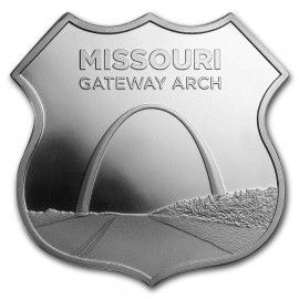 1 Unze Silber Round  Icons of Route 66 Shield Missouri