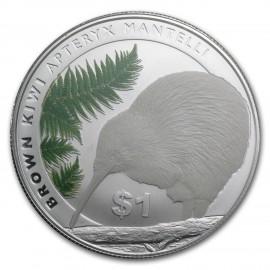 1 unze Silber Kiwi 2015  Blister farbig