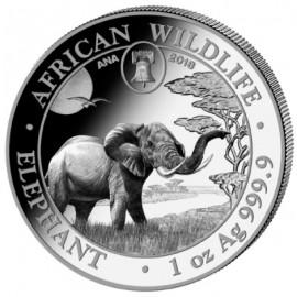 1 Unze Silber Somalia Elefant 2018 Privy ANA