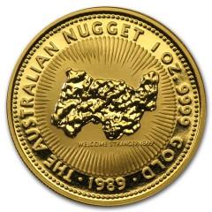 1 Unze Gold Australian  Nugget  Jahrgang 1987-89