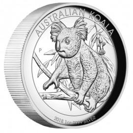1 Unze  Silber Australien Koala 2018 High Relief