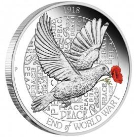 1 Unze  Silber Australien Ende  des ersten  Weltkrieg