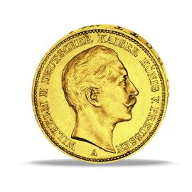 Wilhelm II   Gold 20 Mark