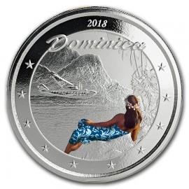 1 Unze Silber 2018 Dominica Nature Isle farbig