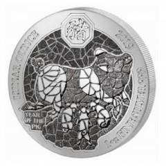 1 Unze Silber Ruanda Schwein 2019