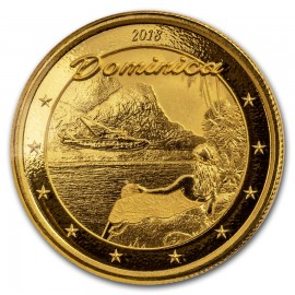 1 Unze oz Gold 2018 Domimica Nature Isle