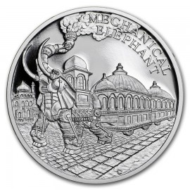 1 Unze oz Silber mechanischer Elefant  Jules Verne Niue PP