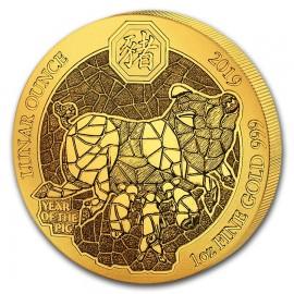 1 oz Rwanda 2019 Gold Pig