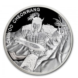 1 oz Unze Silber Südkorea South Korea Chiwoo Cheonwang 2018 1 Clay