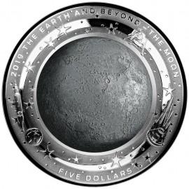 1 Unze Silber EARTH AND BEYOND - Mond - Konvex