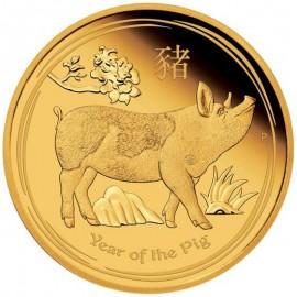 1/10 oz Gold Lunar II Pig PP