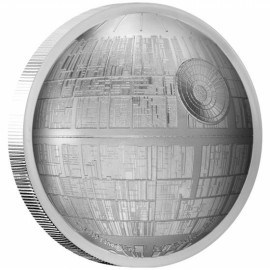 2 Unze oz   Silber  STAR WARS™ - Todesstern Death Star PP  Ultra High Relief