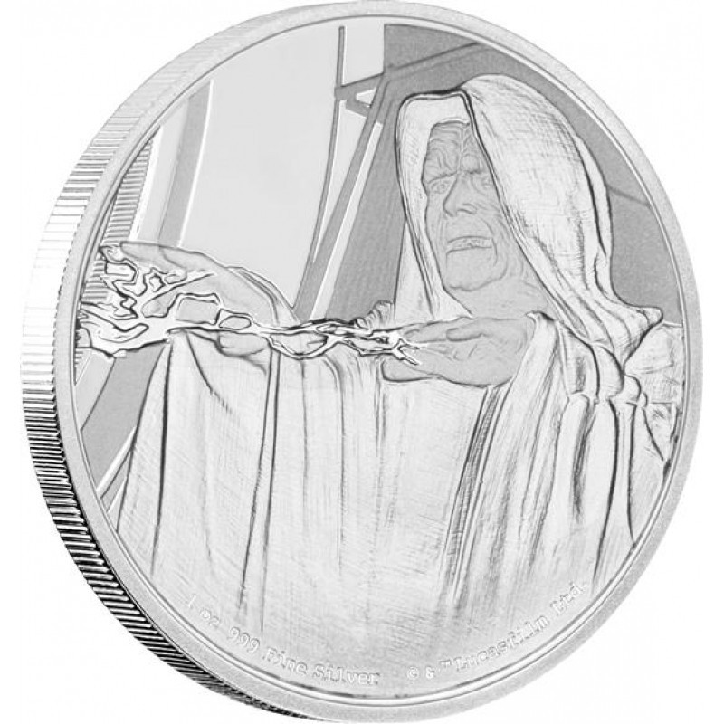 1 Unze Silber Emperor Palpatine Star Wars Niue