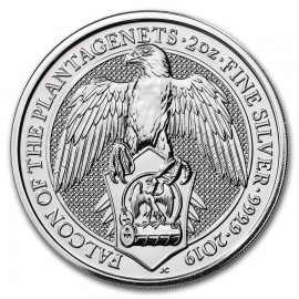 2 Unzen Silber Queens Beasts Falcon Falke 2019